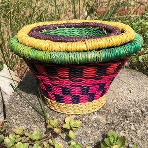 Set of 3 small fair trade baskets